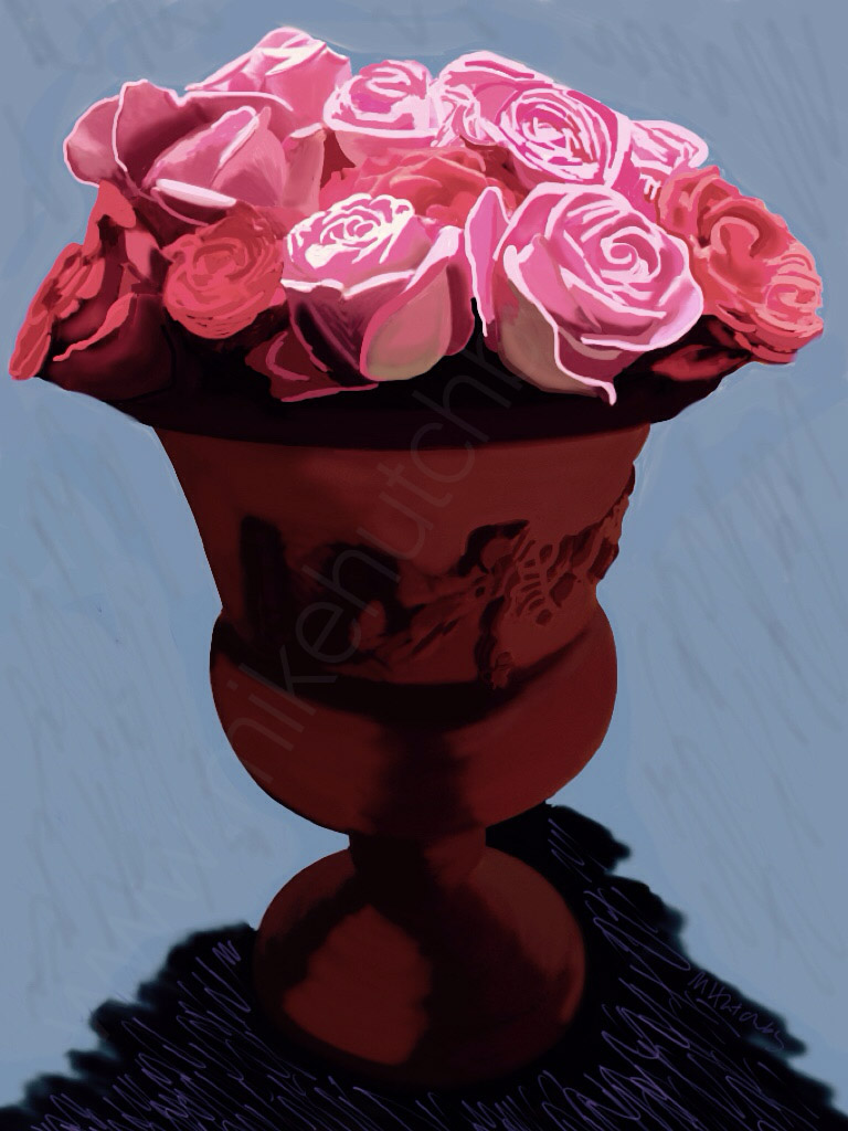 Roses with Terracotta (Variation 2)