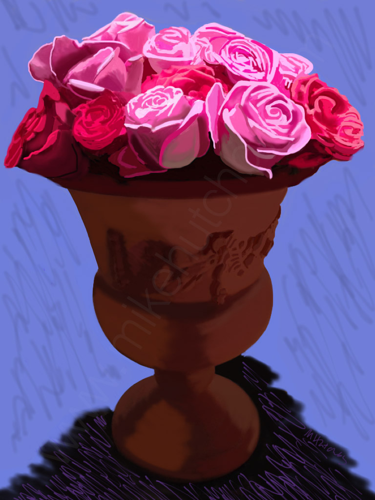 Roses with Terracotta (Variation 4)